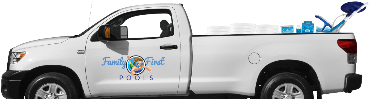 Family First Pools Pool Service Truck